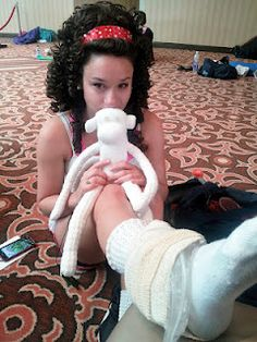 Irish dance poodle sock monkey - I want one!   Maybe he can magically heal ankles ;)