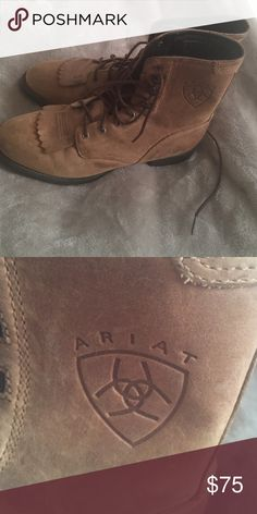 Ariat boots These are prefect condition lace up Ariat boots only wore couple of times Ariat Shoes Lace Up Boots