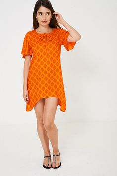 Orange Lagenlook Boho Hippie Beach Dress Cover Up Kaftan Kimono Tunic UK 8 - 16 Boho Hippie, Kaftan, New Outfits, Beachwear, Kimono, Cover Up, Short Sleeve Dresses, Tunic, Orange
