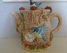 Novelty Leonardo Blue Tit Tea pot 1980