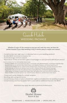 The Quick Hitch Package at Heidel House Resort & Spa in Green Lake, WI