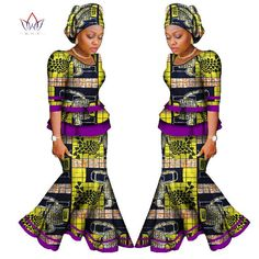 Beautiful African Skirt Set For Women, Africa Traditional Skirt and Top Dashiki Pint, Two Piece Suits African Clothes