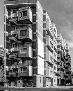 Housing building, Bucharest, Romania, built in the 70's. Proiect Bucuresti. © BACU #socialistmodernism #_ba_cu