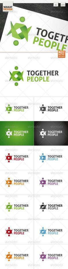 Together People Logo — Vector EPS #service #together • Available here → https://graphicriver.net/item/together-people-logo/4122299?ref=pxcr