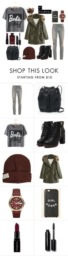 """#casual"" by vanjahh ❤ liked on Polyvore featuring Yves Saint Laurent, J.Crew, Krochet Kids, WithChic, Marc by Marc Jacobs, Smashbox, Bobbi Brown Cosmetics, Dolce & Gabbana Fragrance, women's clothing and women"