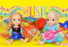 Elsya and Annya go to school and play musical instruments with Miss Rapu...