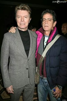 Lou Reed and David Bowie David Bowie, Bowie Starman, The Thin White Duke, Major Tom, Ziggy Stardust, Music Icon, David Jones, Playing Guitar, Record Producer
