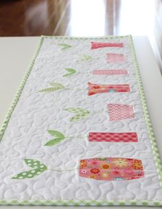 Sprouts Table Runner, etsy