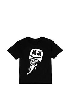 FUNNY MARSHMALLOW FACE Print T-Shirt Bambini Adulti Nuovo altri Bianco e Nero