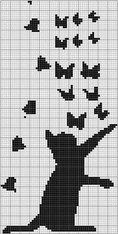Super Ideas For Embroidery Cat Pattern Crafts Cat Cross Stitches, Cross Stitch Charts, Cross Stitching, Cross Stitch Embroidery, Embroidery Patterns, Cross Stitch Patterns, Hand Embroidery, Knitting Charts, Knitting Stitches