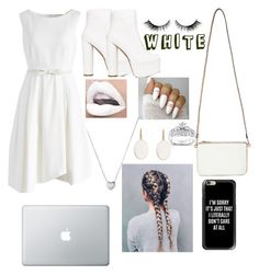 """White"" by aleezak04 ❤ liked on Polyvore featuring Chicwish, Public Desire, Miss Selfridge, Kobelli, Links of London and Casetify"