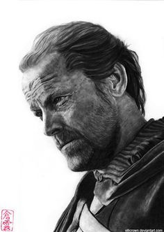 Jorah Mormont (Iain Glen) by ElliCrown on DeviantArt