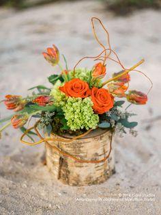 Orange & green conveys a message of zest for living. Floral Arrangements, Florals, Valentines Day, Floral Design, Table Decorations, Orange, Green, Floral, Valentine's Day Diy