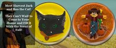 Fun Halloween themed candles from our Signature line of sculpted candles. Meet Boo the Cat and Harvest Jack!