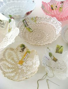 Lace Bowl....I want to make one :>