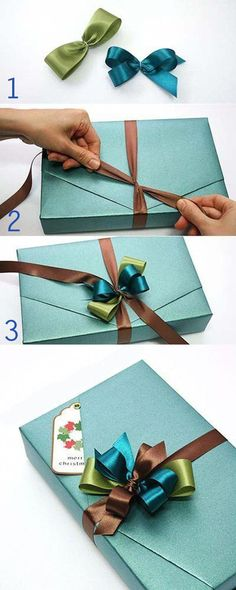 51 ideas diy christmas bows for gifts wrapping ideas Gift Wrapping Tutorial, Gift Wrapping Bows, Gift Wraping, Present Wrapping, Creative Gift Wrapping, Gift Bows, Christmas Gift Wrapping, Wrapping Ideas, Creative Gifts