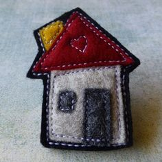 Felt Brooch no.1 House Series - by eclecticmoi on madeit