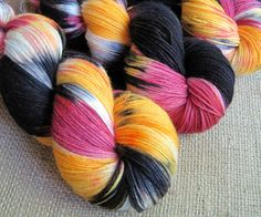 Ninja Cupcake - Superwash Merino & Nylon Fingering Sock Yarn, Hand Dyed by GnomeAcres, $20.00