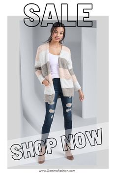 😍 COZY STRIPED CARDIGAN Eyelash knit coverage lends blissful comfort when you're wrapped up in our Cozy Stripe Cardigan. An open front style that's slightly relaxed, this fall favorite is an irresistibly soft final layer to any chilly-weather outfit. #coldweather #winteriscoming #cardigan #fashion #streetwear #StreetStyle #sweaterweather #sweater #shoppingqueen #onlineshopping