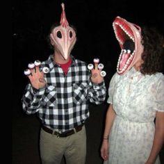 Scary Beetlejuice couples costume idea - Barbara and Adam!