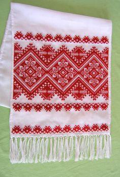 Rushnyk, Ukraine, from Iryna Cross Stitch Art, Cross Stitch Borders, Cross Stitch Designs, Cross Stitching, Cross Stitch Patterns, Diy Embroidery, Cross Stitch Embroidery, Embroidery Patterns, Knitting Patterns