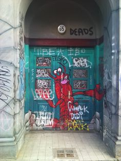 wow! searched berlin on pinterest and my building door for two summers running turned up! hallo skalitzerstr. 65!