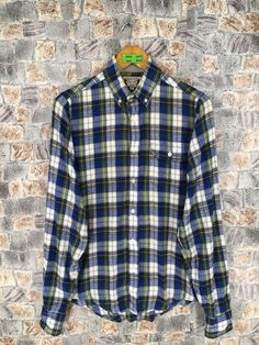 Excited to share the latest addition to my #etsy shop: Gant Flannel Shirt Small Plaid Checkered Multicolour Hipster Minimalist 1990s Grunge Style Oxfords Buttondown Size S #90sflanneloversize #womenflannelsmall #womenflannelshirt #bohoflannel #vintageflannel90s #menflannelshirt #boyfriendshirt #rebuildflannel #mensflannelsmall