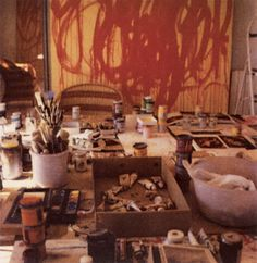 Cy Twombly, Studio Gaeta (with Bacchus Paintings)