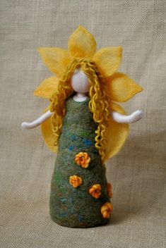 Items similar to Children room decoration Waldorf inspired mobile : The mushroom children. on Etsy Wool Dolls, Felt Dolls, Felt Angel, Waldorf Crafts, Needle Felting Tutorials, Felt Fairy, Needle Felted Animals, Fairy Dolls, Felt Ornaments