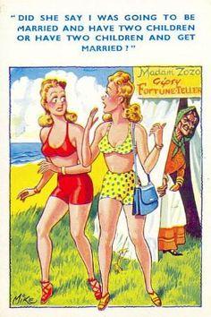 "Postcards of the Past - Vintage Comic ""Seaside"" Postcards (2)"