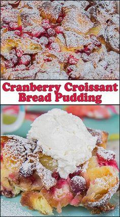 Cranberry Croissant Bread Pudding www.joyineveryseason.com