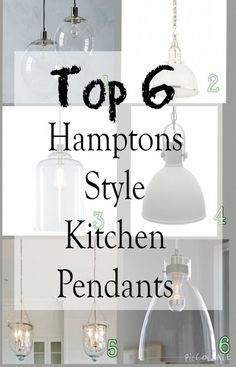 Top 6 Hamptons style kitchen pendants