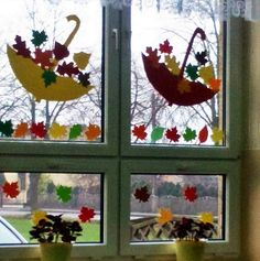Autumn Crafts, Fall Crafts For Kids, Nature Crafts, Toddler Crafts, Preschool Crafts, Diy For Kids, Kids Crafts, Classroom Window Decorations, School Decorations