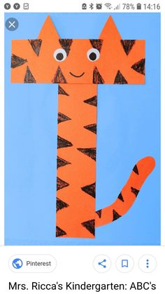This page is a lot of letter t crafts for kids. There are letter t craft ideas and projects for kids. If you want teach the alphabet easy and fun . Letter T Activities, Preschool Letter Crafts, Alphabet Letter Crafts, Abc Crafts, Preschool Activities, Letter Tracing, Kindergarten Crafts, Kindergarten Classroom, Kids Crafts