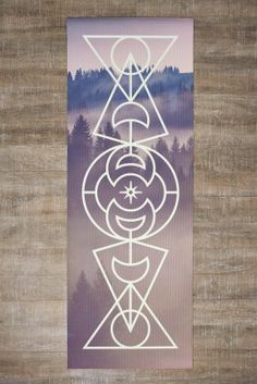 This custom designed Moon Phases yoga mat aligns your energy and allows your spirit to soar while enhancing your favorite yoga pose. It's made from eco-friendly PVC material and features super durable anti-tear material as well as a bubble point non-slip surface to keep you stable and balanced during your practice.