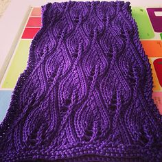 Free Pattern: Candle Flame Scarf by Doris Formby