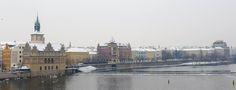 #prague #prag #praha #winter #snow #cold #moldau #moldavia #river