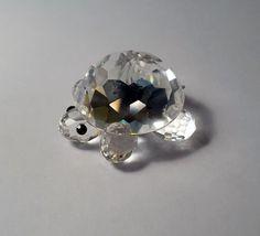 Tiny Swarovski Crystal Turtle by LazyDogAntiqueStore on Etsy