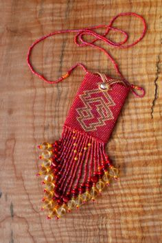 Peyote stitched bead bag