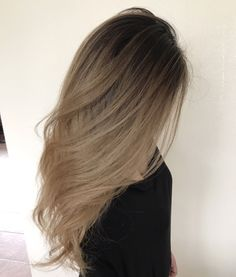 Sandy beige hair