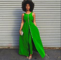 my kind of statement piece (Solange Knowles, May 3, 2015, Dress and pants by Rosie Assoulin)