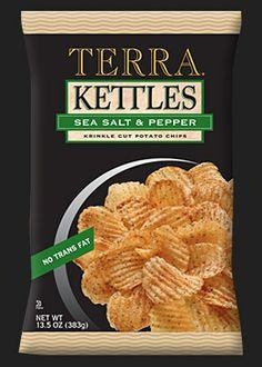 Kettles Sea Salt & Pepper Krinkle Cut Potato Chips
