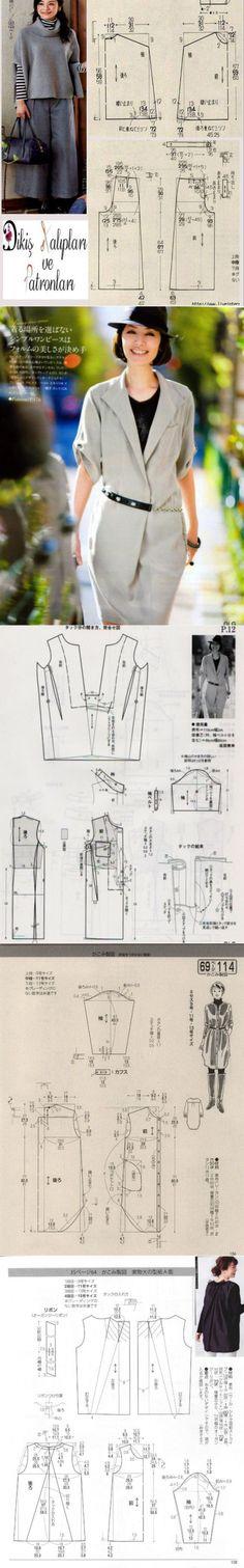 Японские выкройки (подборка) / Простые выкройки / ВТОРАЯ УЛИЦА