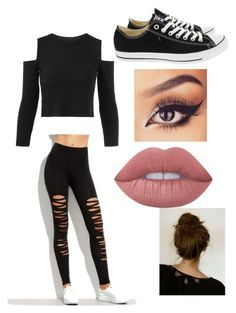 """""""Untitled #69"""" by maeve-nelsen on Polyvore featuring Converse and Lime Crime"""