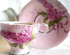 Paragon Lilac - 1940s - Pink Corset Tea Cup