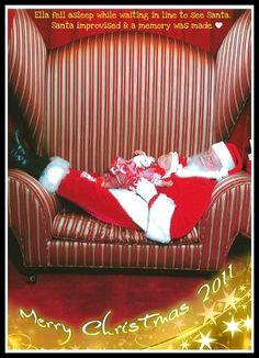 My sweet little glambaby Ella. Best Santa picture EVER!!!  I BELIEVE!!