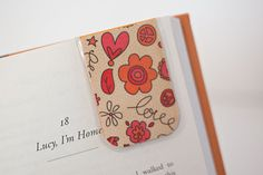 Laminated Bookmark Magnetic Bookmark Magnetic by PurelyChicDesigns