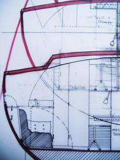 Interior design for a sailing ship.
