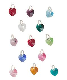 This Small Heart Charm Made With Crystals from Swarovski is perfect! #zulilyfinds