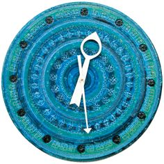 "1stdibs.com | Blue ""Meridian"" Ceramic Clock by George Nelson"